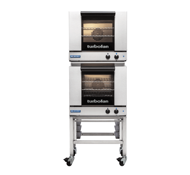 Double Stacked 3 Tray Half Size Manual Electric Convection Oven