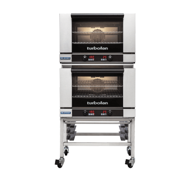 Double Stacked 2 Tray Full Size Digital Electric Convection Oven