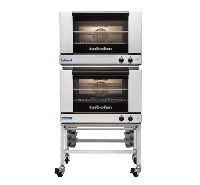 Double Stacked 2 Tray Full Size Manual Electric Convection Oven