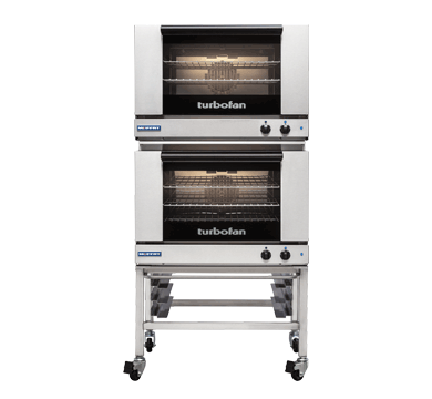 Double Stacked 3 Tray Full Size Manual Electric Convection Oven