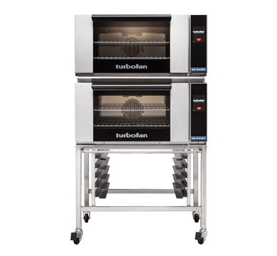 Double Stacked 2 Tray Full Size Touch Electric Convection Oven
