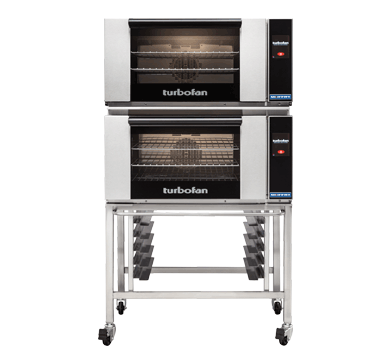 Double Stacked 3 Tray Full Size Touch Electric Convection Oven