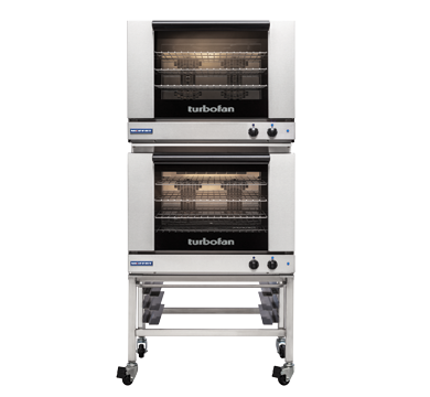 Double Stacked 4 Tray Full Size Manual Electric Convection Oven