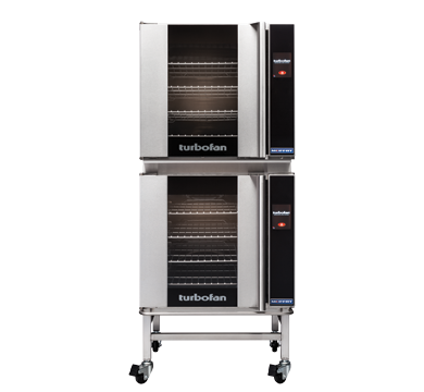 Double Stacked 4 Tray Full Size Touch Electri Convection Oven