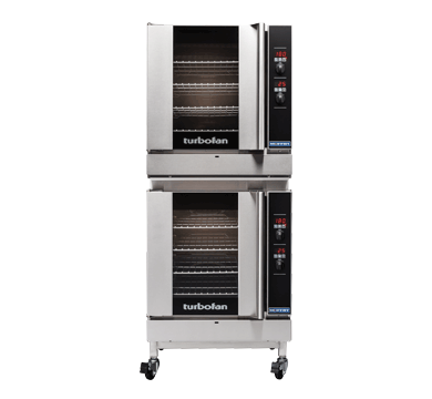 Double Stacked 4 Tray Full Size Digital Gas Convection Oven